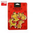 Moldes cortadores de galletas 4 piezas. Navidad