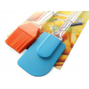 Kitchen spatula and brush, silicone brush