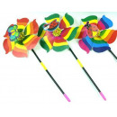 wholesale Garden & DIY store: Windmill pinwheel  garden on a stick 20cm