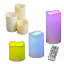 CANDLES LED CUSHION CANDLES 3 PCS SET