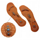 Magnetic acupressure shoe insoles