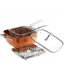 Set. 24cm pan with basket and grate