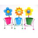grossiste Plantes et pots: METAL pot avec boîtier fleur