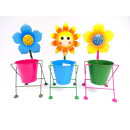 Großhandel Pflanzen & Töpfe: Metallgehäuse Topf mit Blume