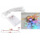 Lights 40 LED battery - Multi Color