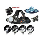 Headlamp LED Zoom  3x CREE XM-L T6 Headlamp