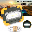 HALOGEN PORTABLE LED LIGHT BATTERY 30W COB