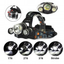 Headlamp LED 3 x CREE XML T6