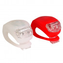 LED LIGHT SILICONE - FRONT BICICLETA -TYŁ