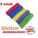 ingrosso Pulizia: KPL. 5 microfibra panni 32x32 cm