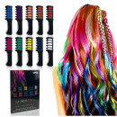 10x COLORED STRIPS CHALKY PAINTS HAIR CRYSTALS