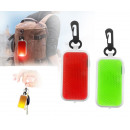 Reflective keyring for batteries
