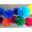 Decoration of 25cm tissue paper