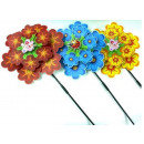 wholesale Garden Decoration & Illumination: Windmill pinwheel  garden on a stick 35cm