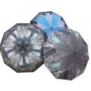 groothandel Paraplu's: ELEGANT PARAPLU  VOUWEN HALFAUTOMATISCH