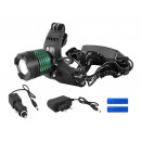 HEADLIGHT LED ZOOM CREE XM-L T6 SOUND LA