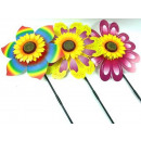 wholesale Garden & DIY store: Windmill pinwheel  garden on a stick 32cm