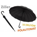 THE ELEGANT BLACK UMBRELLA WITH A FOLDED HANDLE
