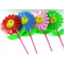 wholesale Garden Decoration & Illumination: Windmill pinwheel  garden on a stick 24cm