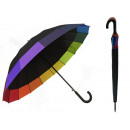 wholesale Umbrellas: UMBRELLA PARASOLKA BLACK WITH A GREEN HANDLE