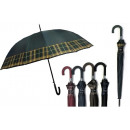 THE ELEGANT COLORED UMBRELLA WITH A CLEARED HANDLE