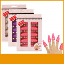 wholesale Nail Varnish: A set of 10 clips  for removing hybrid varnish