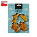 Moldes cortadores de galletas 4 piezas. Aniołki