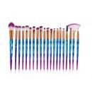 grossiste Make-up Accessoires: LOT DE 20 PINCEAUX DE MAQUILLAGE
