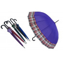 UMBRELLA PARASOLKA COLOR WITH A HANDLE HANDLE
