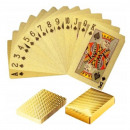 PLASTIC GOLD GOLD POKER GAME CARDS