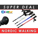 Poles Nordic  Walking Pole sticks 135 cm