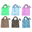 Colorful shopping bag folding