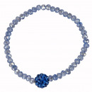 Großhandel Schmuck & Uhren: Glasarmband Giovanna, 4mm, Hellblau