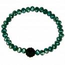 Glass Bracelet Giovanna, 6mm, green