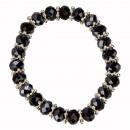 grossiste Bijoux & Montres: Verre Fashion  Bracelet, 8mm, bleu foncé