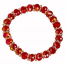 wholesale Jewelry & Watches: Fashion Glass Bracelet, 8mm, Red