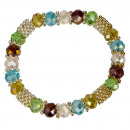 Fashion Glass Bracelet, 8mm, stained