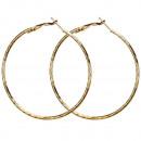 Hoop oorbellen, 60mm, Gold