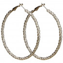 Großhandel Ohrringe:Creolen, 60mm, Silber