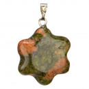 Hanger natuurlijke stenen bloem, 20mm, Unakit