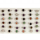Range natural stone rings, 10x8mm
