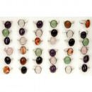 Assortment Natural stone Rings, 16x12mm