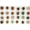 Assortment Natural stone Rings, 18x13mm