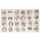 Assortment pearl rings colorful