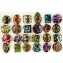 grossiste Boîtes et presentoirs bijoux: Anneaux de  emalierte Assortiment