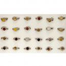 groothandel Ringen: Gamma natuursteen ringen zilver, 8mm