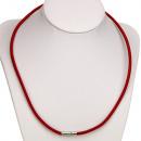 Großhandel Lichterketten: Halskette Leder  mit  Steckverschluss, ...