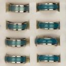 Großhandel Schmuck & Uhren: Edelstahlring Colour, Blau