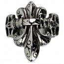 ingrosso Anelli: Biker anello in  acciaio inox, dimensione 20