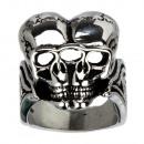 ingrosso Anelli: acciaio inox Biker  anello, cranio, dimensione 23